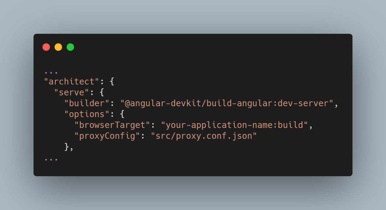 Add your Proxy Configuration File to angular.json - and forget it ever existed