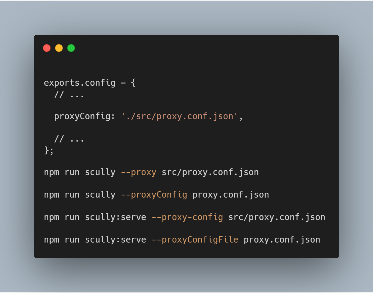 Configure Proxy Redirect with Scully - The Static Site Generator for Angular apps